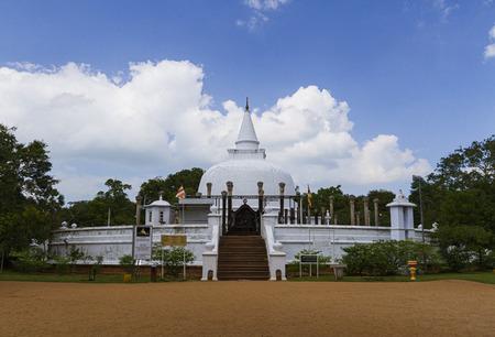 Anuradhapura, Sri lanka- JAN 24, 2014: Lankarama stupa is a Buddhist temple in an ancient place in the ancient kingdom of Anuradhapura.