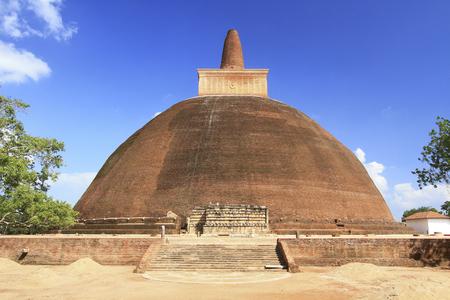 Anuradhapura, Sri lanka- JAN 24, 2014: Abhayagiri dagoba is a Buddhist sacred monastery. One of the focal points of the complex in Anuradhapura. Editöryel