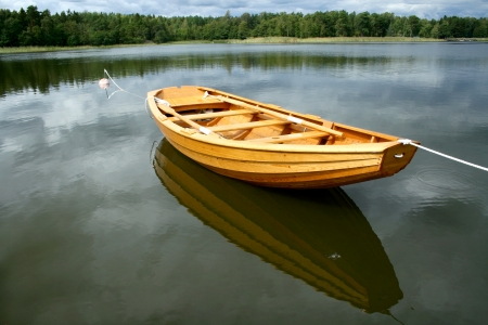 rowboat: Rowing boat from Sweden  Stock Photo