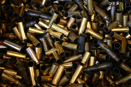 pile of bullet shells photo