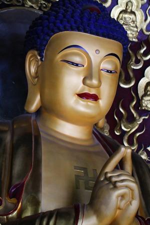 gautama buddha: Golden Gautama Buddha statue