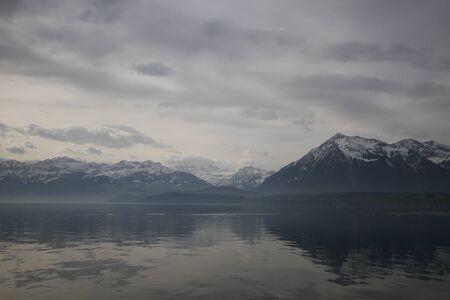 interlaken: Unterseen or Interlaken lake, Thun , Swizterland