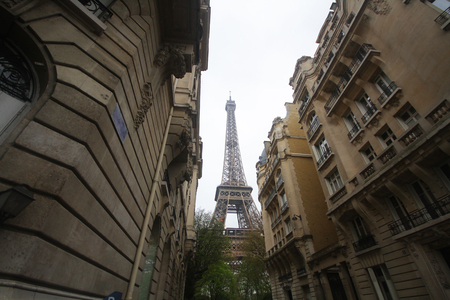 Background of city landscape view with Eiffle tower view, paris, france, wallpaper
