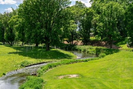 Un antiguo molino fluvial sigue en funcionamiento Foto de archivo