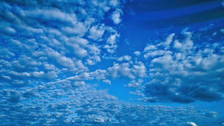 Blue sky and multiple clouds background 스톡 콘텐츠 - 147957360
