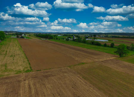 Aerial View of Pennsylvania Countryside on a Beautiful Spring Day