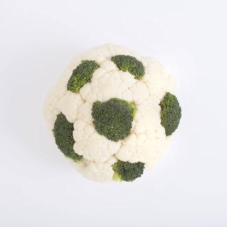 cauliflower with broccoli element isolated on white photo