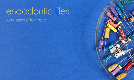 root canal: colored endodontic files for root canal treatment