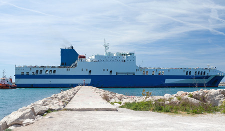 car carrier: Car carrier leaves the Port of Montenegro