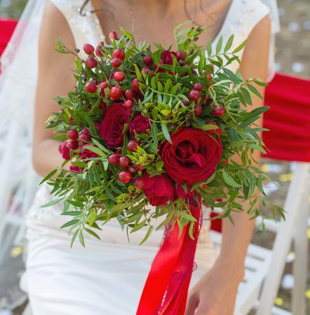 wedding bouquet in hands of the bride Stock fotó