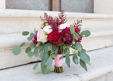 elegant bridal bouquet rounded shape