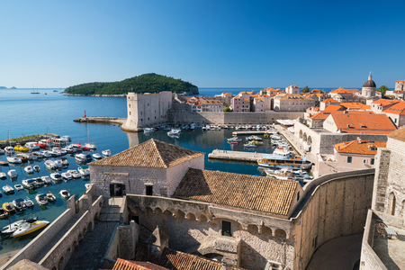 St ivan stock photos royalty free st ivan images fortress of st ivan and the marina in the old dubrovnik croatia stock publicscrutiny Gallery
