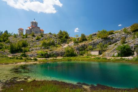 Cetina water source karst spring in Croatia Stock Photo