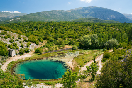 source: Cetina water source karst spring in Croatia Stock Photo