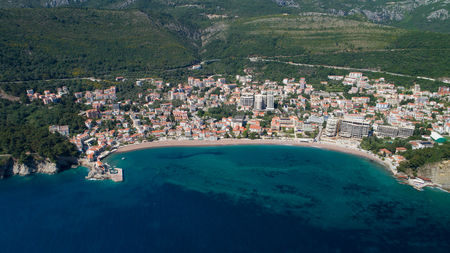 Aerial view of the town of Petrovac
