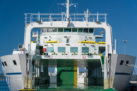 Zadar, Croatia - July 20, 2016: Jadrolinija ferry boat in Gazenica port. Editorial