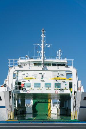 Zadar, Croatia - July 20, 2016: Jadrolinija ferry boat in Gazenica port. Stock Photo - 86345145