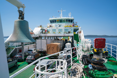 Zadar, Croatia - July 20, 2016: on the ferry - the way to Brbinj Stock Photo - 86345163