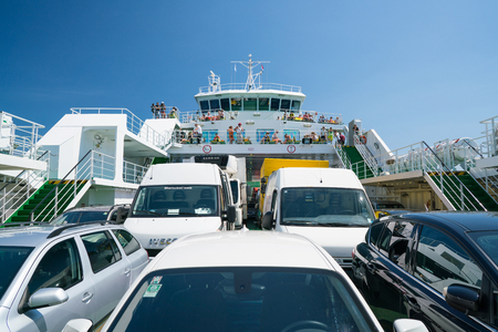 Zadar, Croatia - July 20, 2016: on the ferry - the way to Brbinj Stock Photo - 86345182