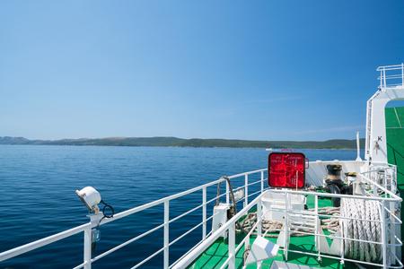 Zadar, Croatia - July 20, 2016: on the ferry - the way to Brbinj Stock Photo - 86345196