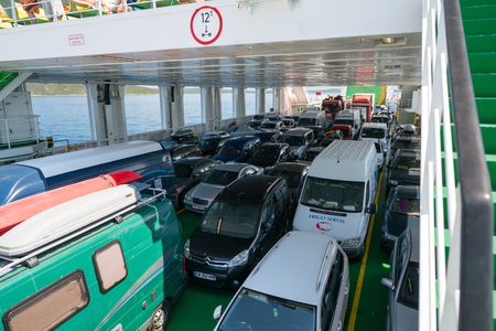 Zadar, Croatia - July 20, 2016: on the ferry - the way to Brbinj Editorial