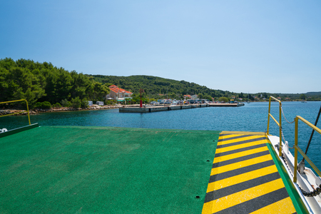 Brbinj, Croatia - July 20, 2016: arrival by ferry