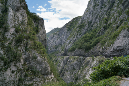 road section in the canyon of the river Moraca, Montenegro