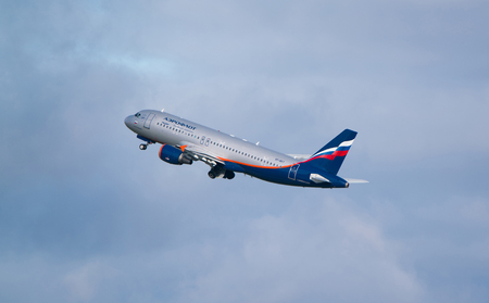 Moscow, Sheremetyevo airport, Russia - September 24, 2016: Aeroflot - Russian Airlines Airbus A320-214 VP-BKY