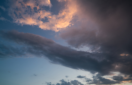 colorful sky with clouds Stock Photo