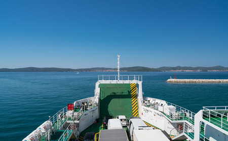 Zadar, Croatia - July 20, 2016: on the ferry on the way from Zadar to Brbinj