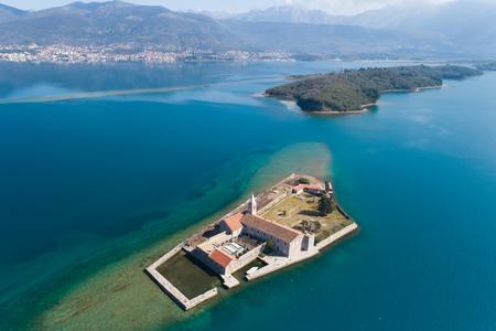 Island in Tivat bay Gospa od Milosti
