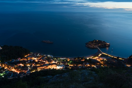 aerial view of  island in Budva, Montenegro 版權商用圖片