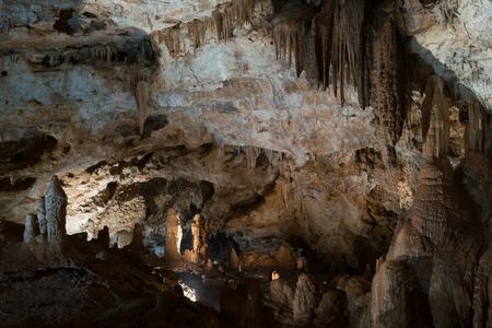 inside Lipa Cave near Cetinje, Montenegro