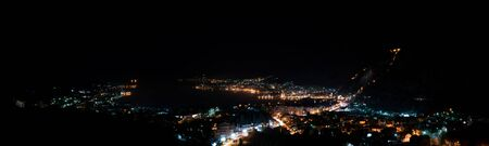 night panorama of the old town of Kotor in Montenegro