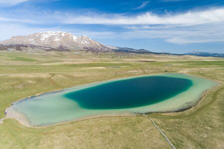 Vrazje lake in Durmitor national park, aerial view Banque d'images