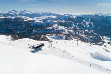 Aerial view of the ski resort in Kolashin Banque d'images