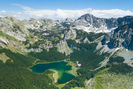 Trnovacko lake in Piva nature park, Montenegro Banque d'images