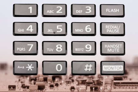 telephone keypad with rectangular buttons close up Limited depth of field