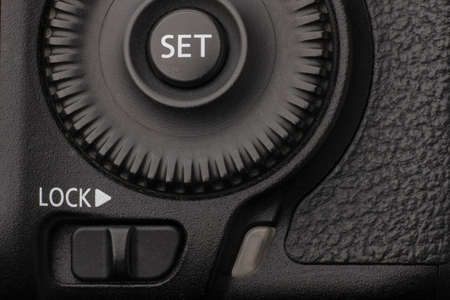 Reflex camera close-up. Can be used as a background. There is a place for the inscription