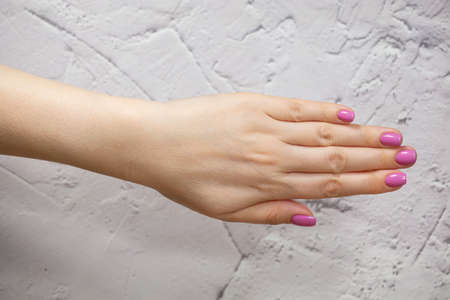 Beautiful Female Hands. Beautiful hand with perfect nails Soft focus