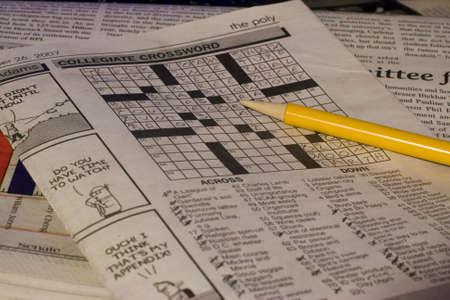 Sunday Crossword Stock fotó