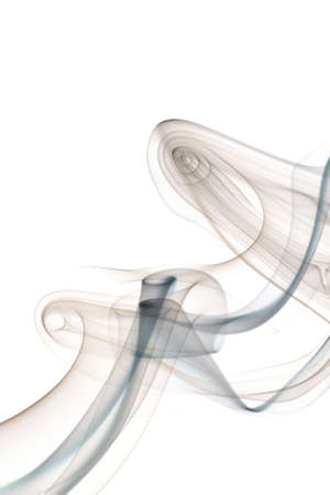 Smoke abstract on a white background. Stock Photo