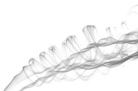 Smoke abstract on a white background. Stockfoto