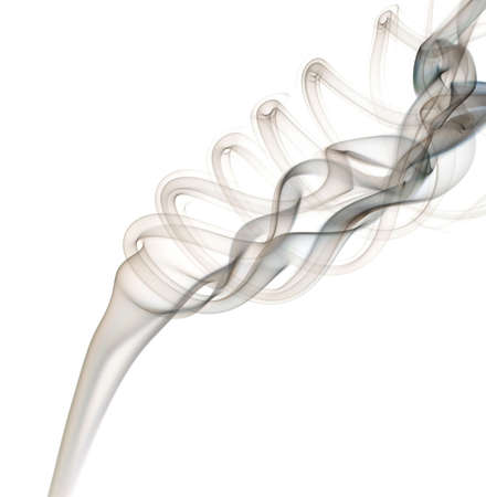 Smoke abstract on a white background. Stok Fotoğraf