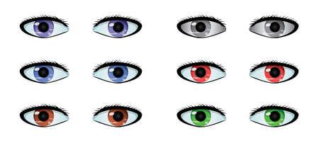 Colored Eyes Stock Illustratie