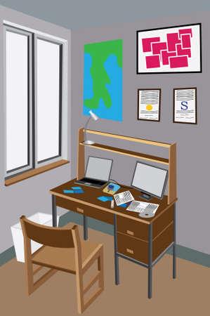 messy room: Messy Desk