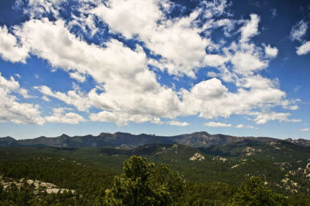 View from overlook in Custer State Park, South Dakota.
