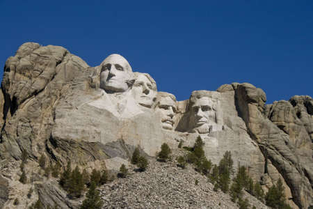 A view of Mt. Rushmore, near Keystone, South Dakota.