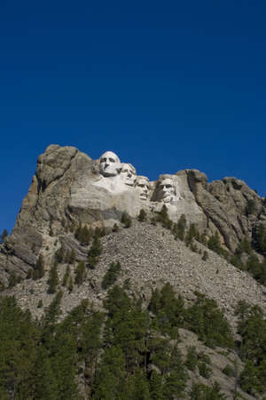 keystone: A view of Mt. Rushmore, near Keystone, South Dakota.