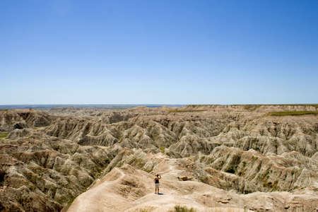 Badlands Natinal Park in South Dakota, USA. Stock Photo